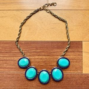 Banana Republic Bright Blue Statement Necklace
